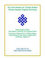 The Uma Institute for Tibetan Studies Tibetan-Sanskrit-English Dictionary