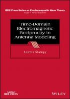 Time-Domain Electromagnetic Reciprocity in Antenna Modeling  9781119612315
