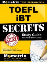 TOEFL iBT Secrets Study Guide: TOEFL Preparation Book for the Test Of English as a Foreign Language [Retail PDFed.]  1516708474, 978-1516708475