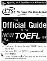 TOEFL iBT: The Official ETS Study Guide  [1ed.]  007146297X, 9780071462976