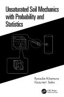 Unsaturated Soil Mechanics with Probability and Statistics  1138553689, 9781138553682