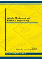 Vehicle, mechanical and electrical engineering  9783038267683, 3038267686
