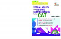 Verbal ability and reading comprehension for the CAT [3rd edn]  9789332570023, 9789332575608, 9332570027
