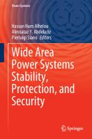 Wide Area Power Systems Stability, Protection, and Security  3030542742, 9783030542740