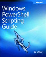 Windows PowerShell Scripting Guide  0735622795, 9780735622791