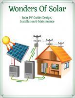WONDERS OF SOLAR: Solar PV Guide: Design, Installation & Maintenance